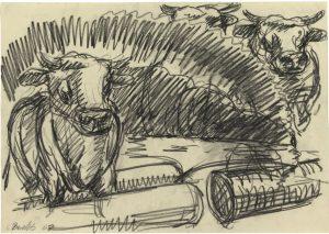 Baselitz-1968-Kühe